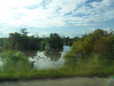 Landschaft im Norden Ghanas