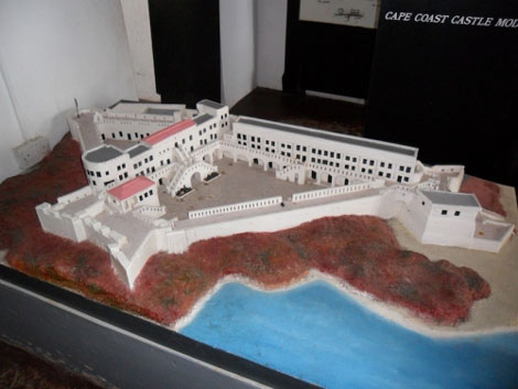 Cape Coast Castle im Modell