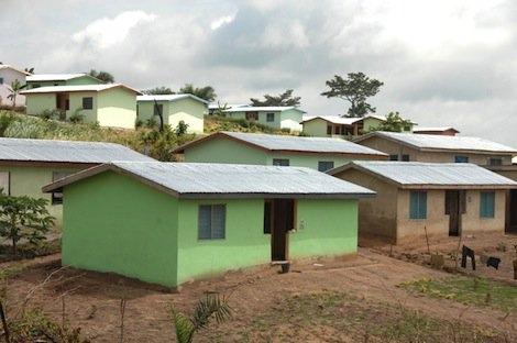 Häuser in Ghana