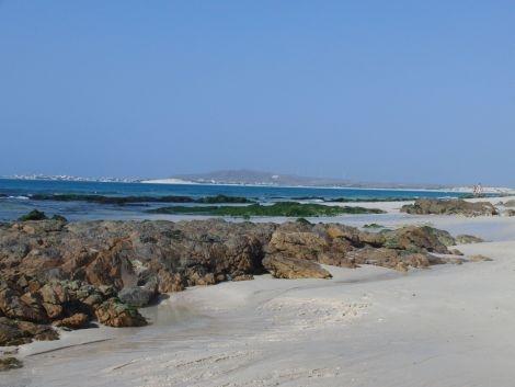 Kapverden Boa Vista Strand Felsen