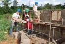 Hausbau in Ghana