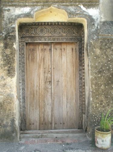 schöne Tür in Stone Town - Sansibar