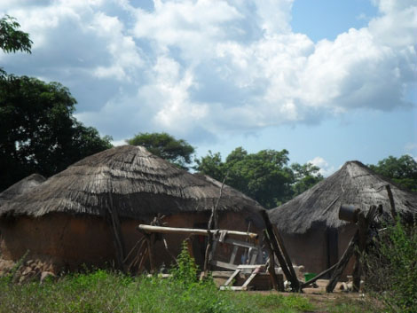 typische Hütten im Norden