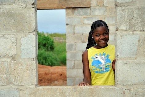 Hauseigentümerin in Sambia