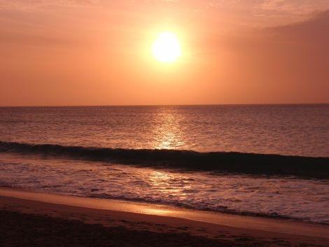 Kapverden Boa Vista Strand Sonnenuntergang